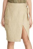 Lauren Ralph Lauren Linen Cargo Wrap Skirt