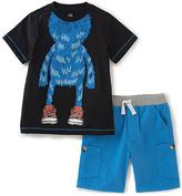 Kids Headquarters Black & Blue Monster Tee & Shorts - Infant Toddler & Boys