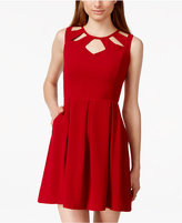 Speechless Juniors' Cutout A-Line Dress
