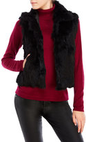 Adrienne Landau Real Rabbit Fur Short Vest