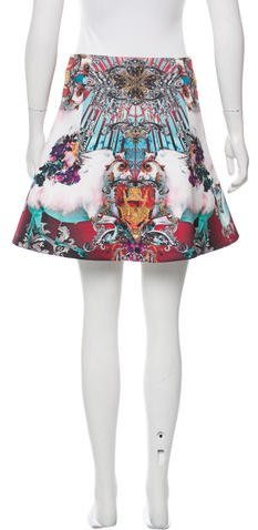 Clover Canyon Graphic Printed Mini Skirt