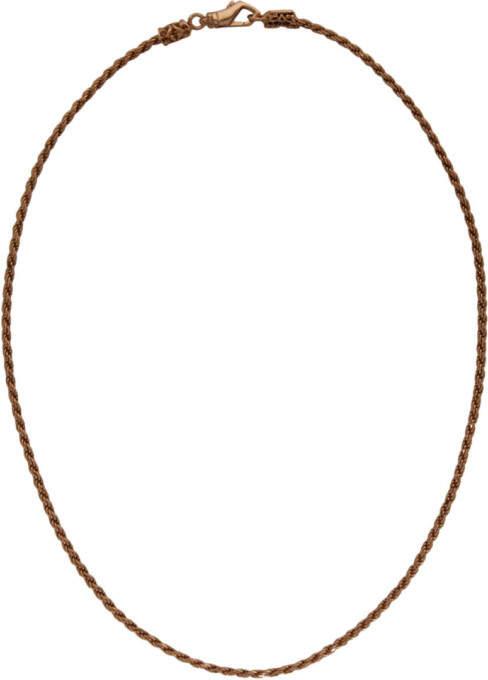 Emanuele Bicocchi SSENSE Exclusive Rose Gold Birdcage Knots Necklace
