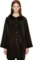 Comme des Garcons Black Velvet Oversized Coat