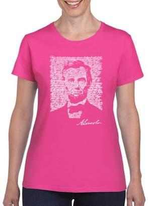 Los Angeles Pop Art Women's ABRAHAM LINCOLN T-Shirt