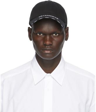 Vetements Black Flat Logo Cap