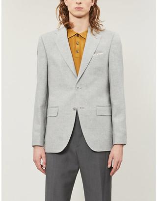 BOSS Slim-fit wool and linen-blend blazer