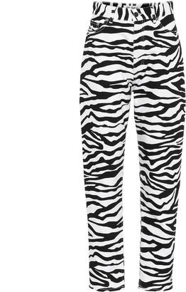 ATTICO Diane zebra-print high-rise jeans