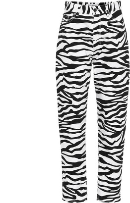 ATTICO The Zebra-print high-rise jeans