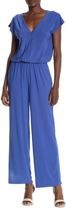 Laundry by Shelli Segal Front Zip Jersey Knit Jumpsuit