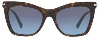 Valentino Tortoiseshell Cat Eye Sunglasses