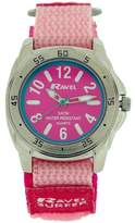 Ravel Girls Analogue Surfer Dial Hot Pink Easy Fasten Watch R5-13.5L