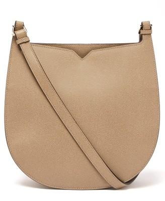 Valextra Hobo Weekend Medium Leather Bag - Womens - Grey