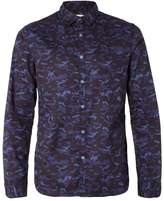 Calvin Klein Blue And Black Camouflage Print Shirt