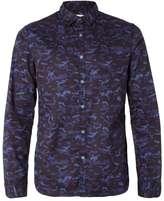 Calvin Klein Blue And Black Camouflage Shirt