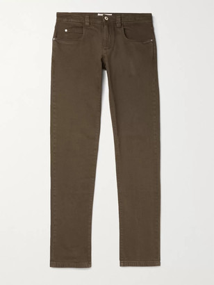 Loro Piana Slim-Fit Stretch-Denim Jeans - Men - Brown