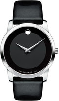 Movado Men's 'Museum' Leather Strap Watch, 40Mm