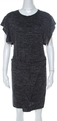 Isabel Marant Etoile Dark Grey Jersey Waist Tie Wrap Dress M
