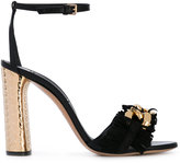 Casadei contrast platform sandals