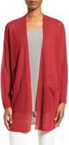 Eileen Fisher Petite Women's Organic Linen Blend Long Cardigan