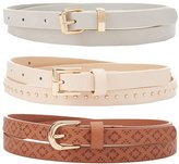 Charlotte Russe Studded & Stamped Belts - 3 Pack