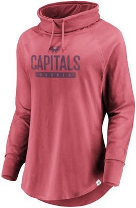 Women's Fanatics Branded Red Washington Capitals Be A Pro Cowl Neck Sweatshirt