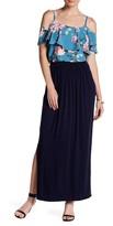 Bobeau Knit Split Side Maxi Skirt
