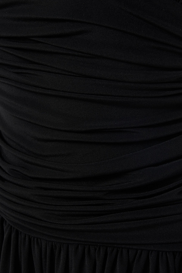 Thumbnail for your product : Norma Kamali Ruched Jersey Halterneck Jumpsuit