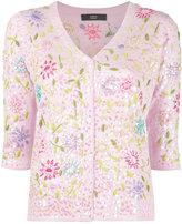 Steffen Schraut floral motif cardigan - women - Polyamide/Polyester/Viscose/Cashmere - 34