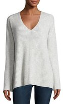 Rag & Bone Phyllis Ribbed Cashmere Sweater, Light Gray