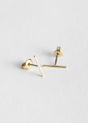And other stories Straight Bar Stud Earrings