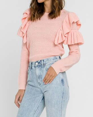 Express Free The Roses Ruffle Detail Sweater