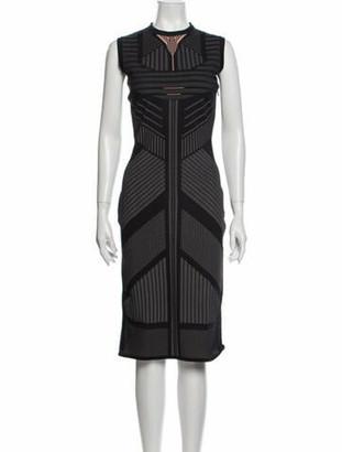 Prada 2018 Midi Length Dress w/ Tags Black