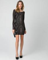 Le Château Sparkle Knit Off-the-Shoulder Mini Dress