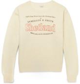 Dries Van Noten Oversized Printed Shetland Wool Sweater