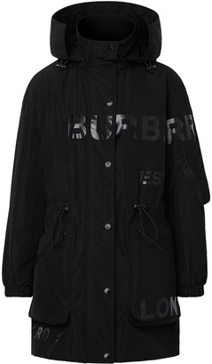 Burberry Logo Print Raincoat