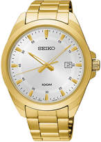 Seiko Men's Special Value Gold-Tone Stainless Steel Bracelet Watch 42mm SUR212