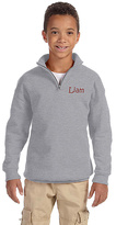 Princess Linens Heather Gray Personalized Quarter-Zip Fleece Pullover - Boys