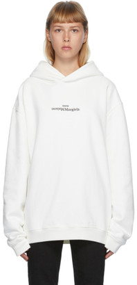 Maison Margiela Off-White Embroidered Logo Hoodie
