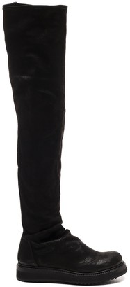 Rick Owens Round-Toe Knee-High Boots