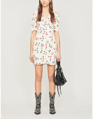 The Kooples Cherry-print silk mini dress