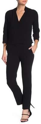 BA&SH Side Lace-Up 3/4 Sleeve Jumpsuit