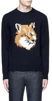 MAISON KITSUNÉ Fox head intarsia lambswool sweater