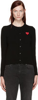 Comme des Garcons Black Heart Patch Cardigan
