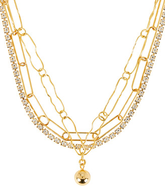 Mounser Eventine Layered Chain-Link Necklace
