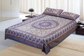 Jaipur textile Hub Cotton Double Bedsheet With 2 Pillow Covers(JTH-CBO-114)