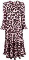 La DoubleJ Visconti floral leopard print dress