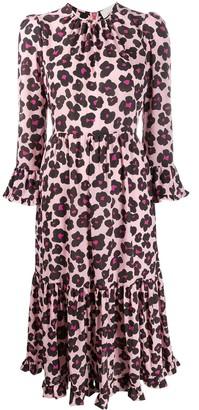 La DoubleJ Visconti floral leopard print dress