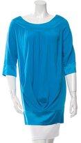 Diane von Furstenberg Silk Pleated Tunic