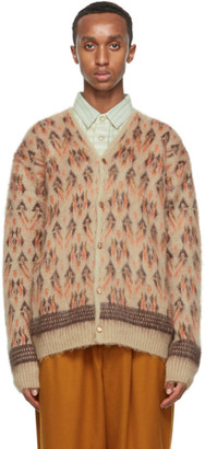 Needles Beige Mohair Graphic Cardigan