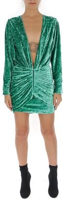 ATTICO Embellished Rouched Mini Dress